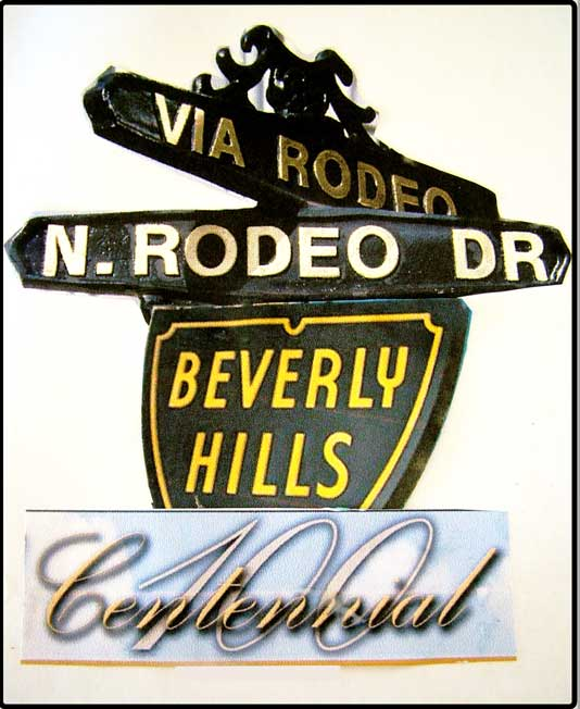 Beverly Hills 90212 Rodeo Drive celebrating 100 years.